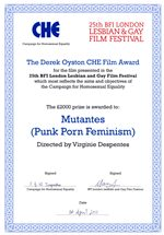Mutantes certificate; click to see a larger version